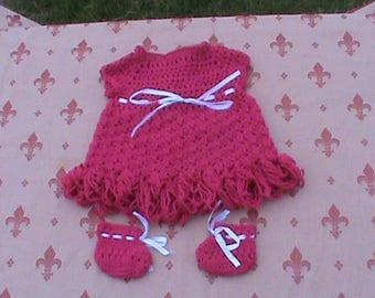 Crochet Baby Dress & Booties