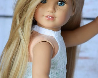 "Custom Doll Wig for 18"" American Girl Dolls, Gotz, Journey Girls - Heat Safe - Tangle Resistant - Cap size 10-11"" Blonde Natural"