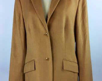 Vintage 90's 00's camel two button blazer jacket