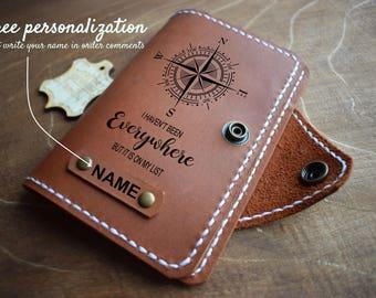 Leather Passport Cover/ Travel Passport holder/Personalized Passport Case/Adventure Gift/Passport Wallet