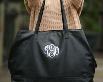 Cambridge Travel Bag, Black, Blush, Camel, Monogrammed Travel Bag, Embroidered Travel Bag, Personalized Travel Bag, Free Personalization