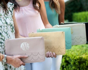 Ava Clutch, Personalized Clutch, Embroidered Clutch, Monogrammed Clutch, Spring Clutch, Summer Clutch, FREE Personalization