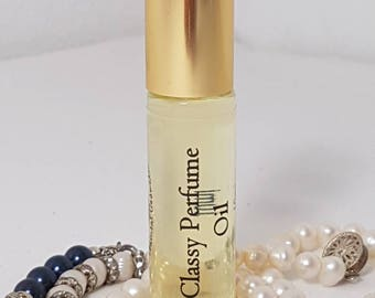 CLASSY Roll-On Perfume, Perfume Oil 10ml, Vegan, Natural, Alcohol Free, Dupe