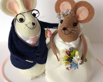 Bespoke Wedding mice to order in your own Wedding outfits