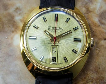 Pennard Lucien Piccard Rare 35mm Automatic Siss Made 1970s Mens Dress watch D82