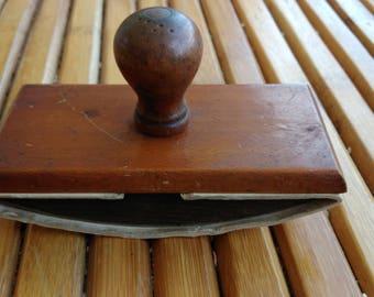 Old wooden blotter holder