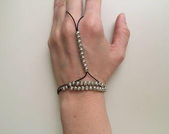 Women's leather bracelet/Beaded leather bracelet/Slave bracelet/Slave leather bracelet /Bohemian jewelry/Boho bracelet/Fashion jewelry