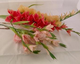 Vintage Plastic Floral Stems Gladiola Plastic Florals