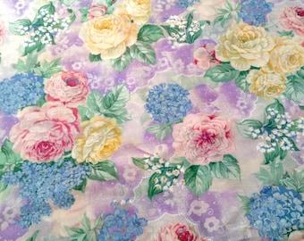 Cottage Rose Fabric Etsy