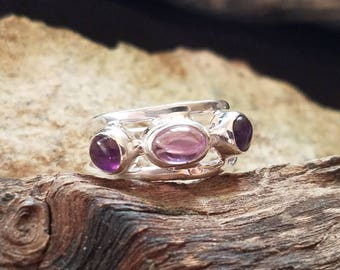 Amethyst Sterling Silver Ring size 7.5