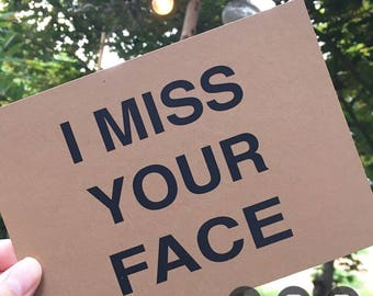 I miss your face postcard/I miss you card/ Boyfriend Card/Girlfriend card/ Long distance card/ Postcard/Penpal