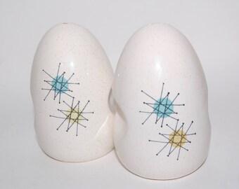 Fransiscan Starburst/Atomic Salt and Pepper Shakers