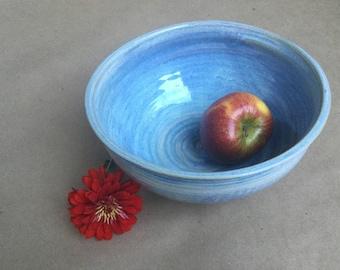 Moon Glow Blue Serving Bowl - Stoneware