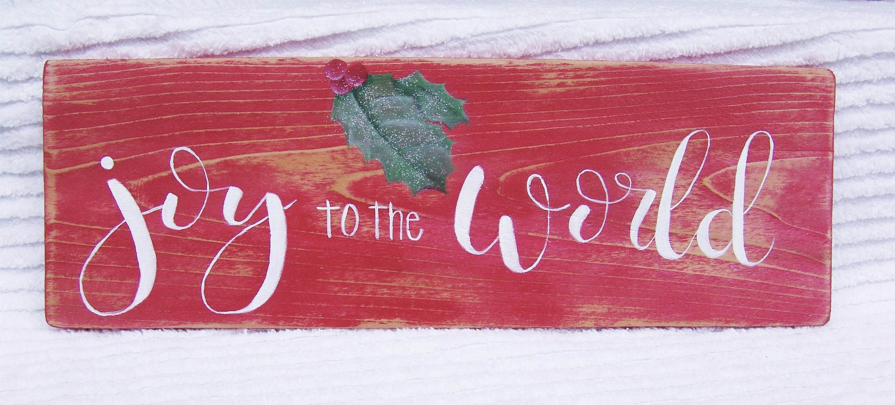 Joy to the World Sign, Hand Lettered Christmas Sign, Hand Painted ...