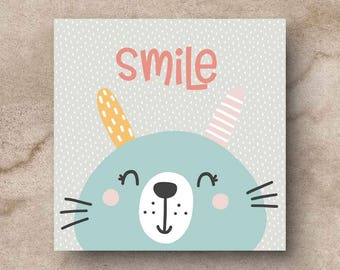 Smile printed card