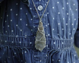 Wire Wrapped Mica Necklace