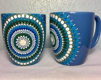 Mandala dot art mug