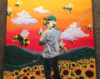Flower Boy Album Cover Painting