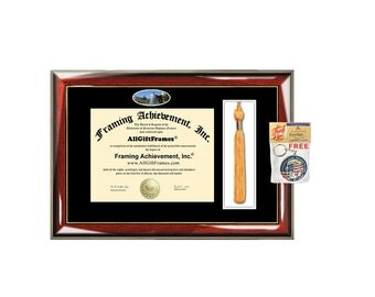 Graduation Tassel Diploma Frame With Two Degree High School
