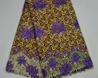 Superior Wax Fabric mix with Cord Lace /waxLace /whole sale fabric/ Ankara Wax/ African Wax Print/African Wax/ Valisco Wax