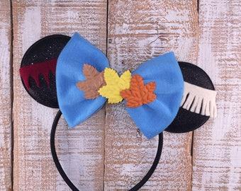 Pocahontas Inspired Minnie Ears, Minnie Mouse Ears, Pochahontas Inspired Headband, Girls Birthday Headband, Minnie Bachelorette Party
