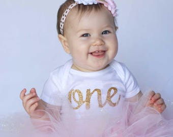 First Birthday Outfit, First Birthday Pink And Gold Tutu Outfit, 1st Birthday Outfit, Pink Birthday Tutu, Pink Tutu, Smash Cake, Photo Prop