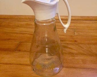 Vintage 1960's Mod Syrup Pitcher with Atomic Stars – Mid Century – Retro – Carafe