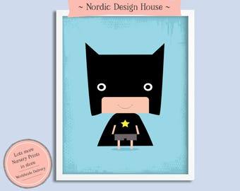 Nursery Wall Art, Superhero Nursery Wall Decor, Nursery Art, Superhero Nursery Prints,  Kids room Print, Modern Nursery Art, Superhero Print