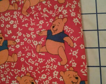 "Free Shipping!!! Vintage Mid Century 100 Percent Cotton Twill Fabric 24"" L Plus 44"" W  Sears Walt Disney Productions Winnie The Pooh"