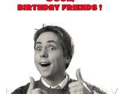 Inbetweeners birthday card, funny birthday card, birthday friends card, TB themed birthday card, birthday card for friend,