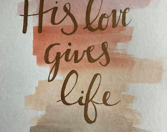 lettering print - His Love