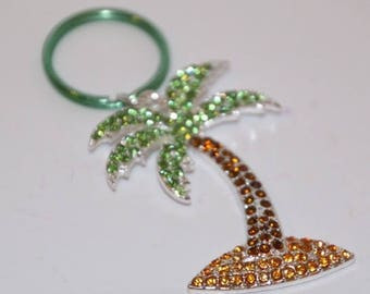 Palm Tree Blinged Keychain