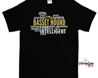 Basset Hound T-shirt - Man's Best Friend Gift - Basset Hound Lover