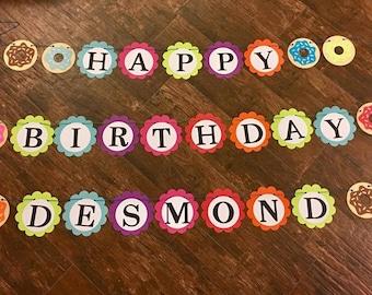 Donut Birthday Banner
