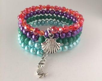 Little Mermaid Bracelet, Ariel Bracelet, Disneys The Little Mermaid, Disney Jewelry, Wrap Bracelet, Disney Bracelet, The Little Mermaid