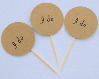 I do cupcake toppers, rustic wedding cupcake toppers, I do wedding, cupcake toppers, I do wedding toothpicks, I do picks, I do toppers