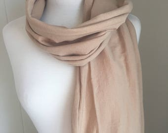 Made to order, Cotton Jersey Scarf, Organic Cotton, Natural cotton colors, mens scarf