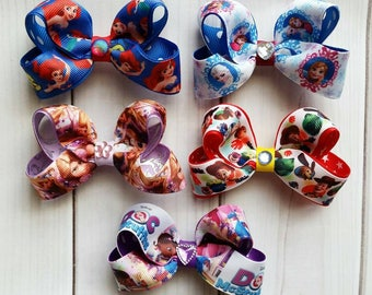 Disney Characters Hair Bow Bundle/Disney Hair Bow Bundle/Character Hair Bow Bundle/Cartoon Hair Bow Bundle/Hair Bow Bundle/Hair Bow Lot