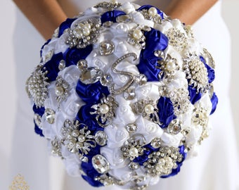 "Full Price !!!Ready to Ship Elegant 9"" Brooch Bouquet Plus Combo Bridesmaid Bouquet Corsage Boutonniere"