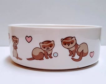 Ferret, Ferret Bowl, Water Dish, Ferret Dish, Pet Food Bowl