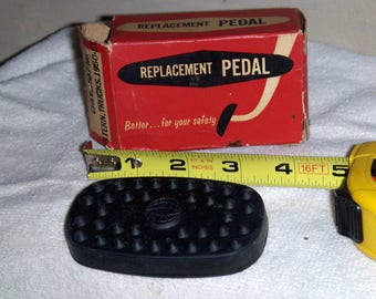 Car part. Replacement pedal; rubber cover, Chev 1937-56, Intern trucks 1950-55. Vintage