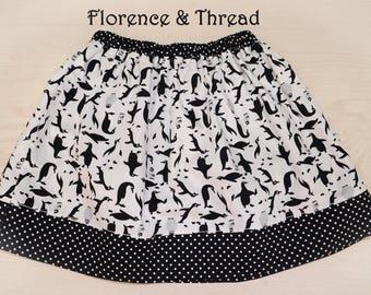 handmade penguin skirt age 5-6 years