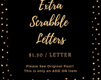 Extra Family Letter Scrabble Pieces