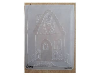 Sizzix Embossing Folder Gingerbread House, Gingerbread House Embossing Folder