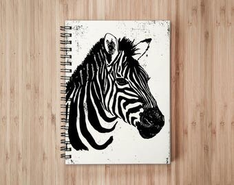 Zebra Notebook/Sketchbook Wire Bound - Blank pages