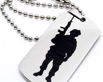 Dog Tag, Military Style Dog Tag, Stainless Steel Dog Tag, Jewelry Dog Tag, Personalized Dog Tag, Military Style Jewelry, USMC Soldier