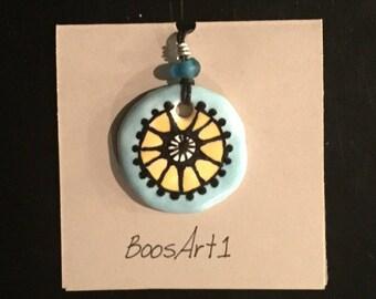 1 Inch Colorful Ceramic Pendant