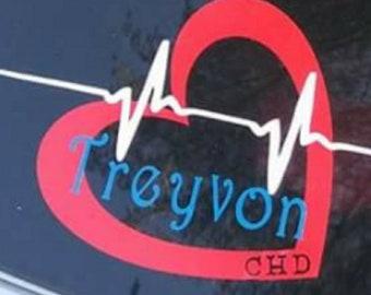 Treyvon chd awareness decal  fundraiser