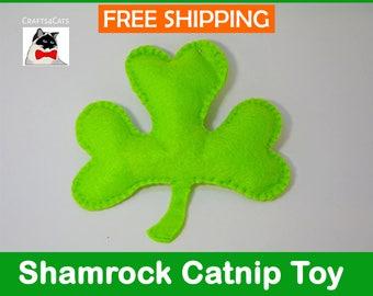 Shamrock Catnip Cat Toy, St Patricks Clover Cat Toy, Irish Cat Toy, Green Clover Cat Toy, Crafts4Cats