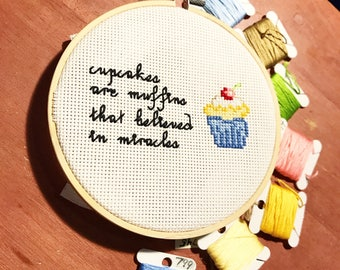 Cupcake Miracles - Modern Cross Stitch Pattern ONLY